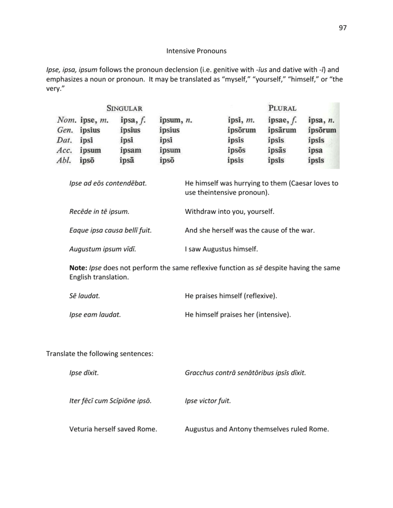 worksheet Reflexive And Intensive Pronouns Worksheet 15 intensive pronouns