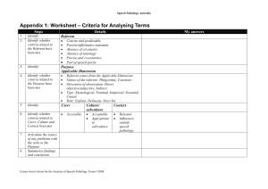 Appendix 1: Worksheet – Criteria for Analysing Terms