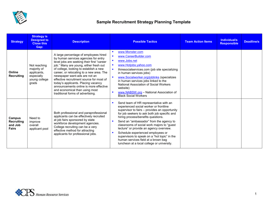 strategic recruiting plan template - student recruitment plan template the reason why everyone