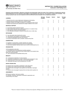 Student Evaluation of Educational Quality (SEEQ)