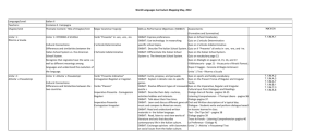 World Languages Curriculum Mapping May, 2012 Language/Level
