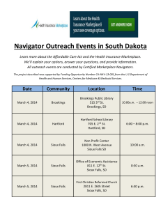 Navigator Outreach Events in South Dakota Learn more about the