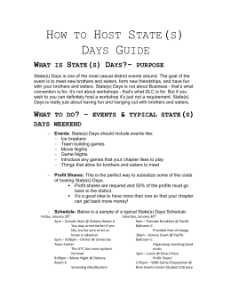 How to Host State(s) Days Guide What is State(s) Days?