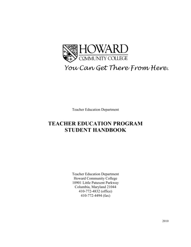 Teacher Education Program Howard Community College