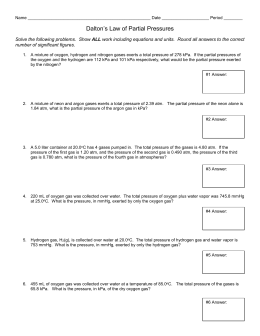 Gas Law Worksheet #2