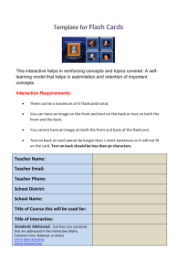 Template for FlashCards (new window)