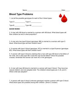 Blood Type Problems 2