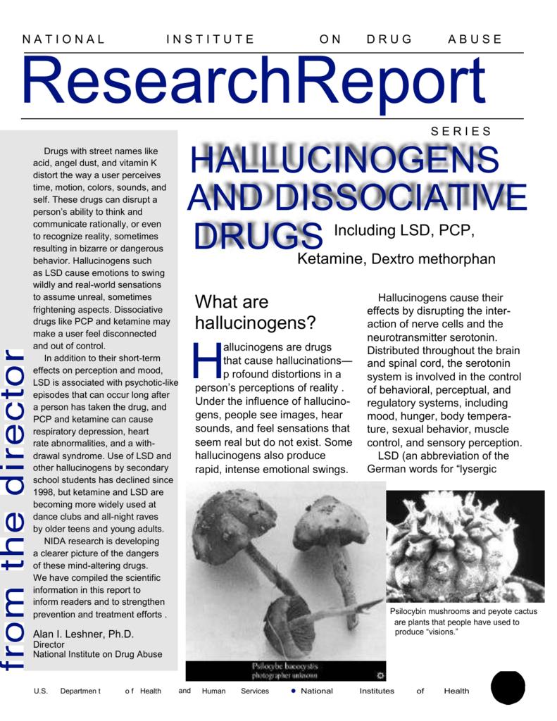 NIDA Research Report - Hallucinogens and Dissociative