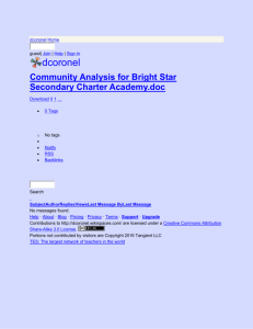 dcoronel - Community Analysis for Bright Star Secondary Charter