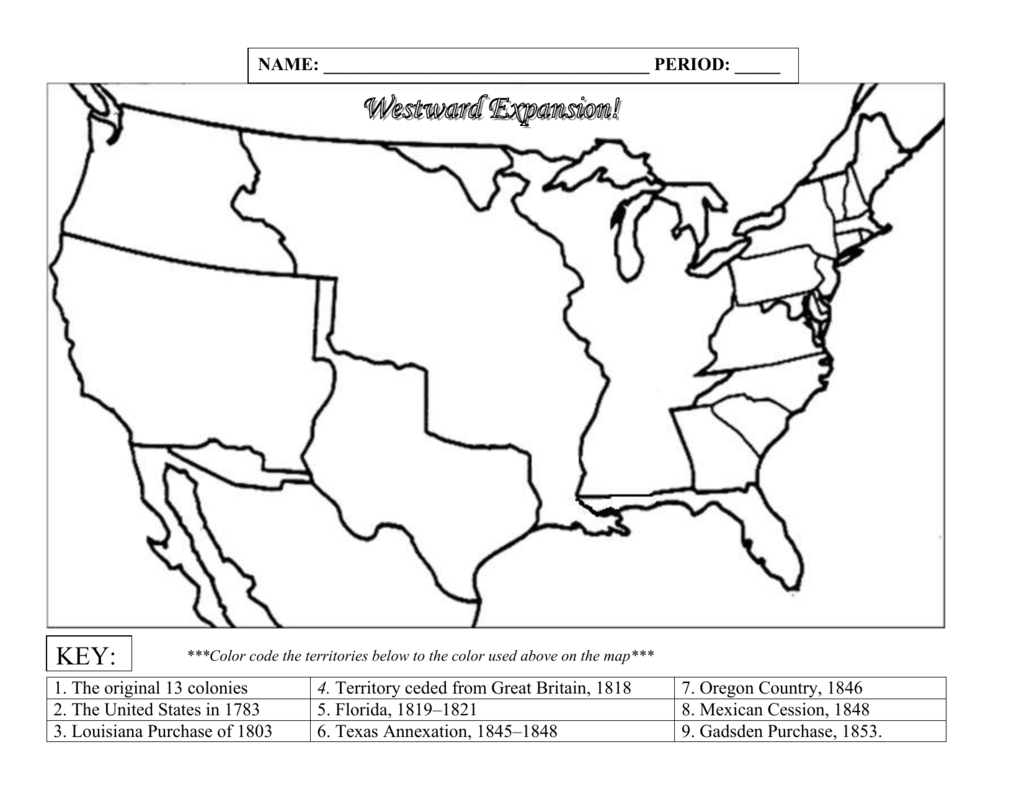 Blank Us Map With Territories 994220Westward Expansion map blank