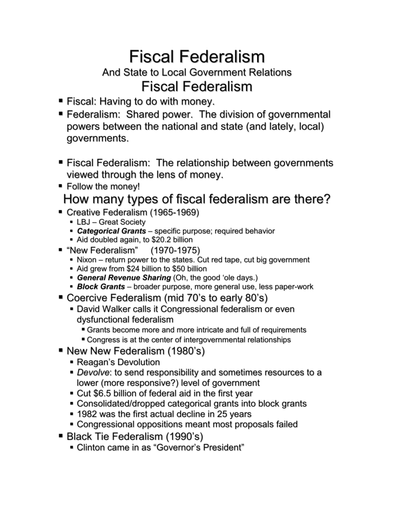 worksheet Fiscal Federalism Worksheet how many types of fiscal federalism are there