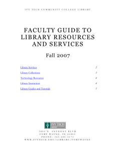 library services - Ivy Tech Community College