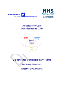 ACP Guidance for MDT's - Information Services Division