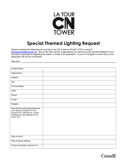 Special Themed Lighting Request Please complete the following