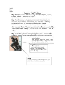 Caesar Character Trait Worksheet
