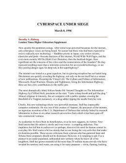 cyberspace under siege - Harvard Kennedy School
