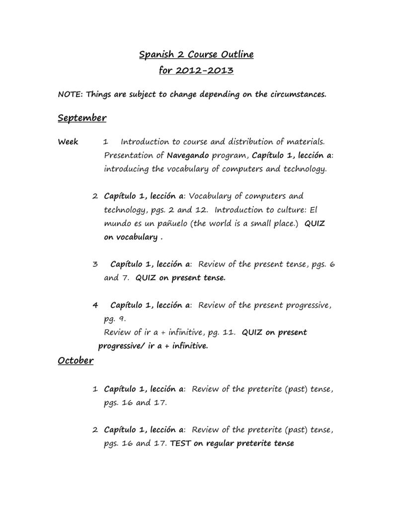 outline spanish 2 12