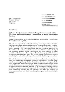 2009 08 19 Letter Of Formal Action Mohammed Saad