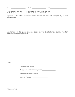 Reduction-camphor