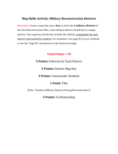 Map Skills: Military Districts Rubric