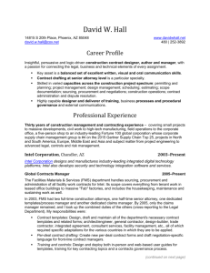 Resume: David W. Hall (May, 2015)