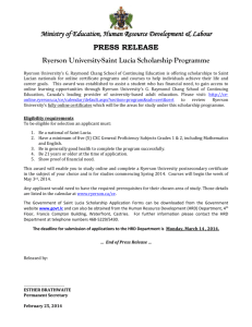 Ryerson Continuin Education Scholarship