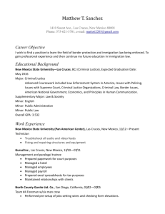 Resume - Matthew T. Sanchez