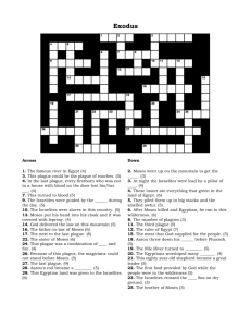 Exodus crossword