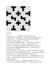CROSSWORD PUZZLE JAN 2010