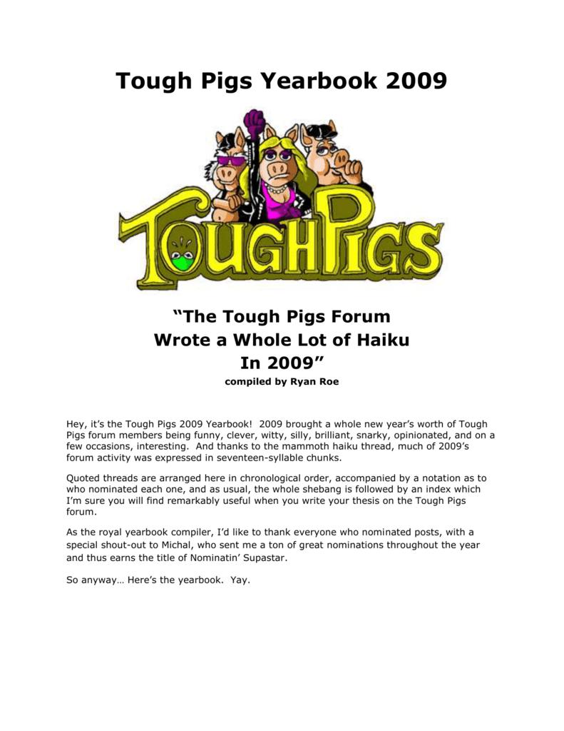 2009 - Tough Pigs