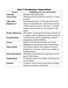 Unit 3 Vocabulary: Imperialism