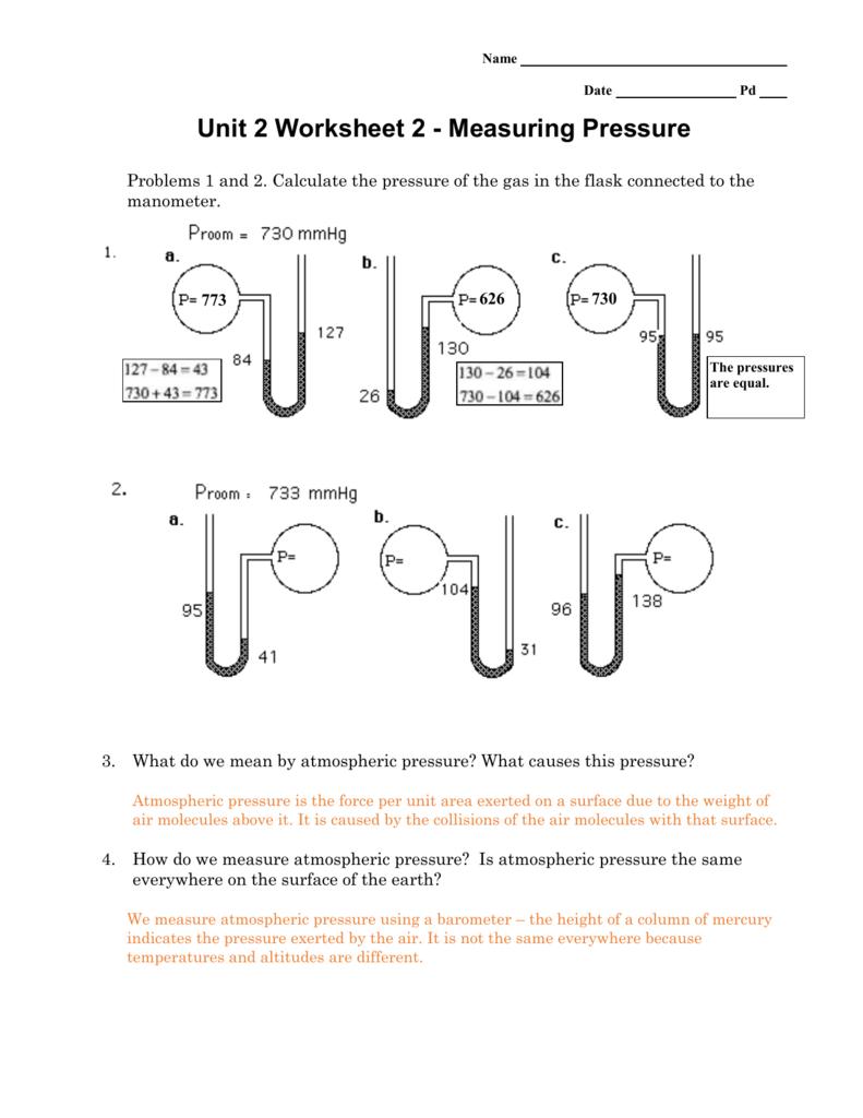 Air Pressure Worksheet on Water Vapor Science Worksheets For Grade 5