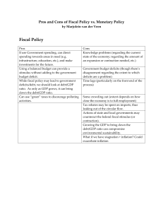 Pros and Cons of Fiscal and Monetary Policy