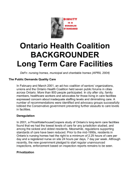 fact sheet - Ontario Health Coalition