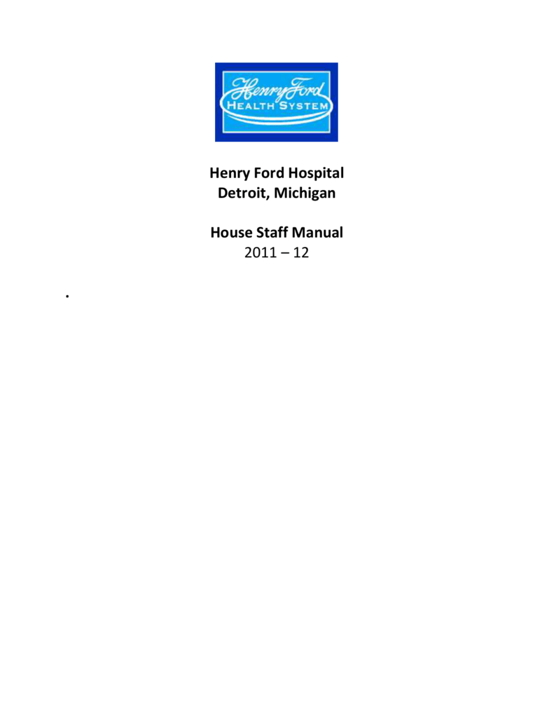 TABLE OF CONTENTS - Henry Ford Health System