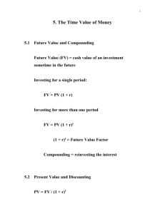 5. The Time Value of Money