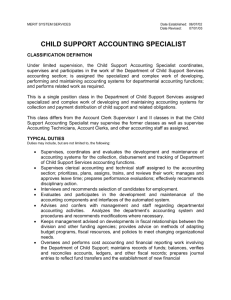 child support accounting specialist