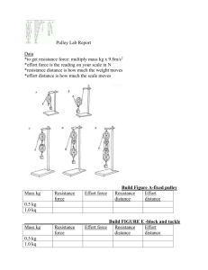 Pulley Lab Report