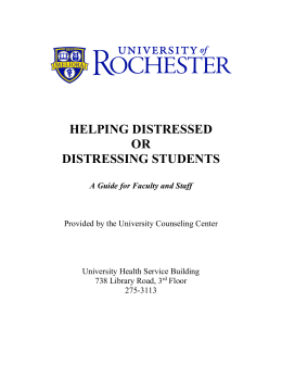 Helping Distressed or Distressing Students