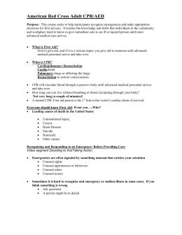 Infant CPR Steps | Worksheet | Education.com