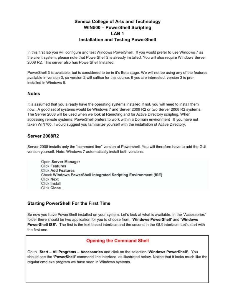 Lab1 - Seneca - School of Information & Communications