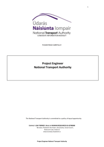 duties and responsibilities - National Transport Authority