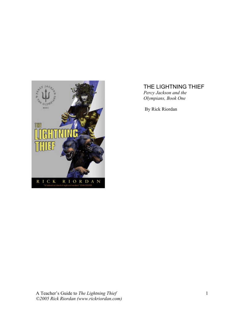Lightning Thief Study Guide
