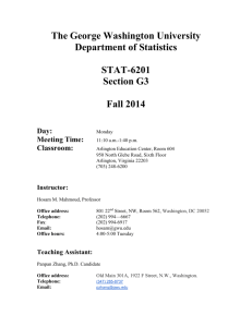STAT 6201-G - The Department of Statistics | The George