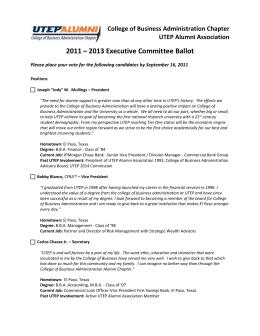 Executive Committee Ballot 2011