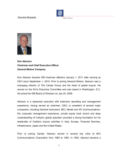 T Executive Biography GM China Dan Akerson Chairman and Chief