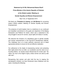 Prime Minister's Statement at the Global Leaders' Meeting on