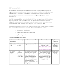 FITT Assessment Tables - National Child Traumatic Stress Network