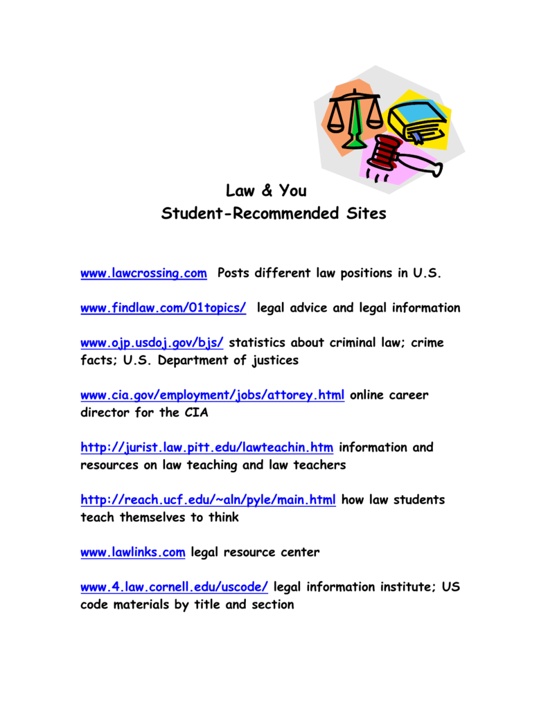 Legal information: a selection of sites