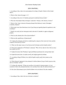zinn howard chapter questions and answers essay Howard zinn columbus zinn chapter 1 essay by papernerd contributor, college, undergraduate zinn chapter 1 (2001, october 21.